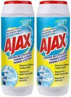 2 x Ajax Powder Cleaner Scratch Free 450g Multi-Purpose Clean Lemon Frargrance