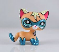 Super kitty Rare Littlest Pet Shop COMIC CON short hair CAT Super Hero LPS toys