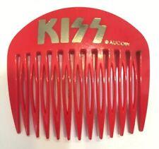 Kiss Hair Comb, Clip, Vintage Band memorabilia, Red, Aucoin Brand, Rare!