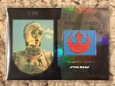 Star Wars 2016 Topps Evolution Commemorative Rebel Patch Card Insert C-3PO Blue