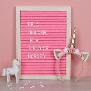 Felt Letter Board Changeable Message  New Bigger Size Pink and White