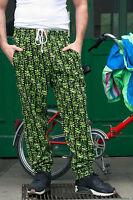 Quality UP Time fashion Fitness Hose 90er TRUE VINTAGE men trousers L neongrün