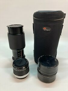 Vivitar 75-205mm 1:3.8 MC Macro Focusing Zoom w/ 2X matched multiplier for Canon