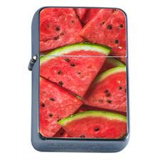 Watermelon Em2 Flip Top Oil Lighter Wind Resistant With Case