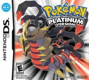 Nintendo DS Pokemon Platinum Version Game Card ONLY TEST GOOD WORKING US seller