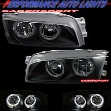 1997-2002 MITSUBISHI MIRAGE 4DR SEDAN DUAL HALO BLACK HEADLIGHTS BRAND NEW PAIR