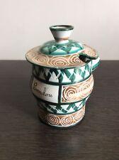 Pot à cornichons en céramique émaillée de Vallauris signé Robert Picault 1960