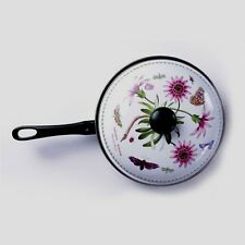 Portmeirion BOTANIC GARDEN Treasure Flower Enamel on Steel Skillet Fry Pan w Lid