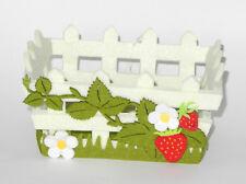 Osterkörbchen Osternest Filz mit Erdbeeren ----------- 4 Stück -----------------