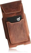 Apple iPhone 5/5S/5C/SE Echt Leder Handy Tasche Matador-Togo-Braun2 Gürteltasche