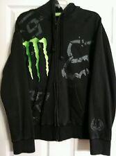FOX 4 racing MONSTER ENERGY mens black hoodie sweatshirt. Ricky Carmichael.  L.