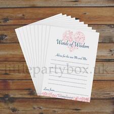 Words of Wisdom - 10x Premium Wedding/Marriage Advice Cards - Heart Design! (A7)