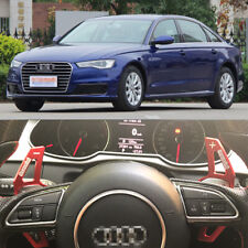2PCS Steering Wheel Shift Paddle Shifters Extension Aluminum For Audi A6L 12-18