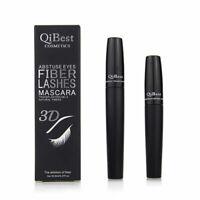 2pcs Eyelash Long Curling Fiber 3D Mascara Eye Lashes Gift Extension Black R7N3