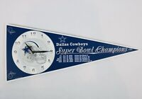 Dallas Cowboys Super Bowl Champions Pennant Clock