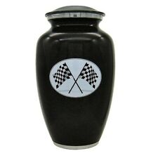Race Car Checkered Flag Cremation Urn for Ashes Adult Size