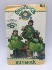 Cabbage Patch Kids COSTUME PATTERN & 1 Transfer Butterick 6920 UNCUT