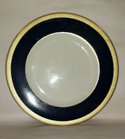 """SYRACUSE China - QUEEN ANNE Pattern Cobalt Blue & Gold - 10 1/4"""" DINNER PLATE"""