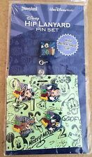 NEW HIP LANYARD STARTER SET FAB 4 DLR Disney Characters Retractable  New in pkg.