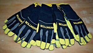 5 x BOLLWERK WildCat Safety All Purpose Work Glove IGW-04-L size LARGE