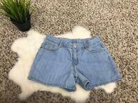 Gymboree Girl Jeans Short Pant Blue Adjustable Waist Cotton Sz 10