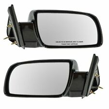 Manual Black Side Mirrors Left LH & Right RH Pair Set of 2 for Pickup Truck
