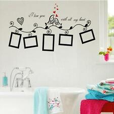 Home Decal Wall Sticker Waterproof For Family Picture Photo Frame Bird Pattern
