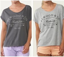 Elwood Womens AFTER GLOW Tee Oversized Round Neck Jersey T-Shirt Tops Size XS-L