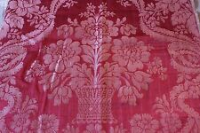 """Antique 19thC French Silk Home Furnishing Fabric c1890~Baskets&Flowers ~26""""Lx25""""W"""