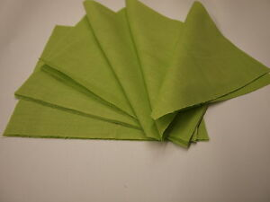 quilting squares  6 inch  green new and packed in 10