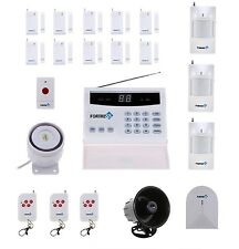 Fortress Wireless Security Landline Alarm System Glass Detector Sensor Siren FOB