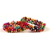 #4423 Jungle Seeds Fair Trade Artisan Wholesale Friendship Bracelets 12 Lot Peru