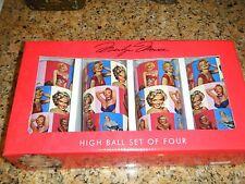 MARILYN MONROE SET LOT X 4 HIGH HI-BALL 10 OZ GLASSES SET FULL WRAP GREAT PICS!!