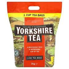 Taylors of Harrogate Yorkshire Tea bags 1200 One Cup Tea Bags,  Black Tea 3Kg