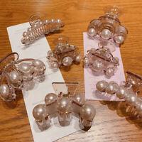 Big Pearls Hair Clip Claw Makeup Thick Hair Accessories Women Barrette Fashion