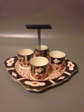 Arthur Wood Art Deco Imari Egg Cups With Plate Stand Vintage Antique