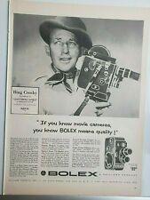 Lot 12 Vtg Movie Camera Print Ads Fairchild Keystone Kodak Bolex Bell and Howell