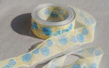 0,90€//m süßes Band Blümchenornament 10mm Blümchen waschbar Schleifenband braun