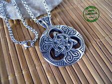 Collana in Acciaio Simbolo Celtico Triskele Triscele Triskellion Rune Runa Celti