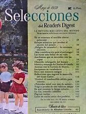 Revista Selecciones del Reader´s Digest vintage - mayo 1959 España - publicidad