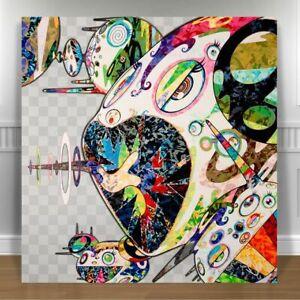 "TAKASHI MURAKAMI- Francis Bacon Study CANVAS PRINT 24x24"" JAPANESE POP ART"