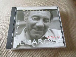 "CD ""FRANCIS LEMARQUE : A PARIS"" Collection Millesime"