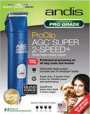 ANDIS AGC Super 2 Speed Clippers BLUE Dog Horse UltraEdge $249 AGC2 ProClip