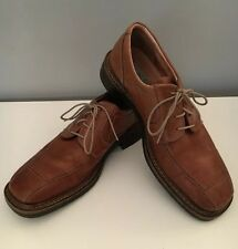 Mens ALDO Brown Leather Lace Up Oxfords Shoes sz. 9 Made In Italy
