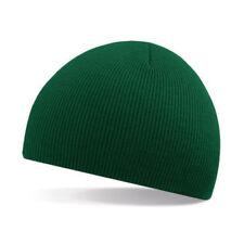 Unisex Bottle Green Soft Feel Beanie Hat - Winter, Autumn, Warm, Snow, Raining