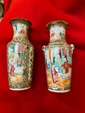 More details for 2 x 19th century antique cantonese vases
