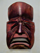 A Pair of Wooden Masks Home Decor Ornament