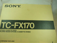Sony Stereo Cassette Deck TC-FX-170 Stereo Used in Box Music Radio Magnetophone