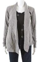 AllSaints Co Ltd Spitalfields Womens Long Sleeve Asymmetric Sweater Gray Size 12
