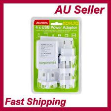 Universal 4USB Power Adapter Charger Converter World Travel Plug AU UK EU Japan